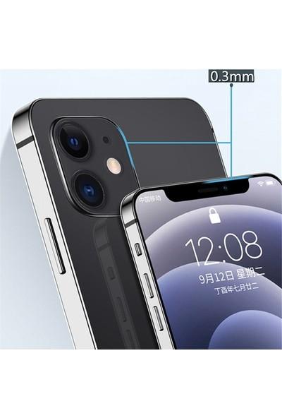 Ally Apple İphone 12 Pro Max 6.7 İnch Kılıf Kamera Korumalı Silikon Kılıf Al33492 Şeffaf