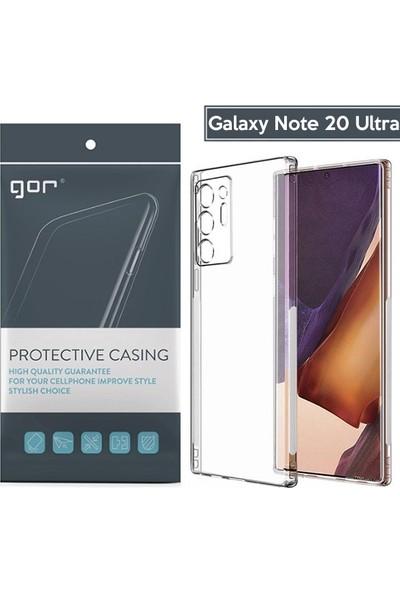 Ally Samsung Galaxy Note 20 Ultra Kamera Korumalı Ultra Slim Silikon Kılıf Al33315 Şeffaf