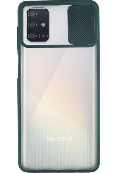 Asya Case Apple İphone 7 Plus 8 Plus Kamera Korumalı Sürgülü Kılıf Yeşil