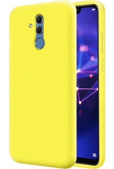 Mopal Huawei Mate 20 Lite Cappy Silikonli Kılıf Sarı