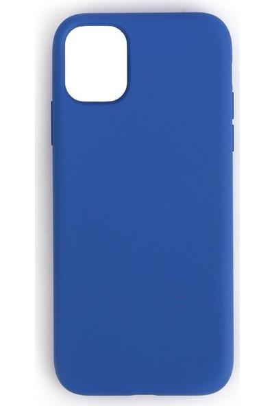 Mopal Apple İphone 11 Pro Max Cappy Lansman Silikon Telefon Kılıf Lacivert