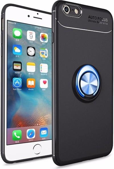 Mopal Apple İphone 6 Plus / 6S Plus Power Yüzklü Silikon Kılıf Mavi