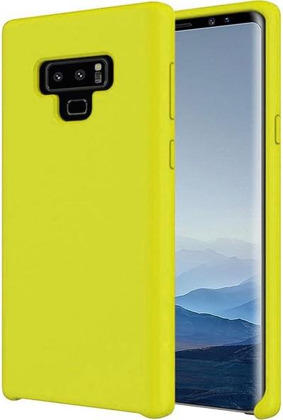 Mopal Samsung Galaxy Note 9 Cappy Lansman Silikon Telefon Kılıfı Sarı