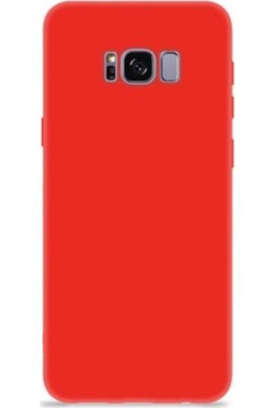Mopal Samsung Galaxy S8 Plus Cappy Lansman Silikon Telefon Kılıf Kırmızı