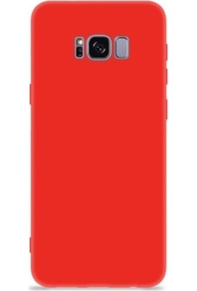 Mopal Samsung Galaxy S8 Cappy Lansman Silikon Telefon Kılıfı Kırmızı