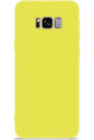 Mopal Samsung Galaxy S8 Cappy Lansman Silikon Telefon Kılıfı Sarı