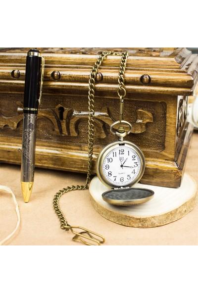 Hediye Rengi İsme Özel Atatürk Temalı Köstekli Saat Ve Kalem Seti Tasarım Kutulu M4
