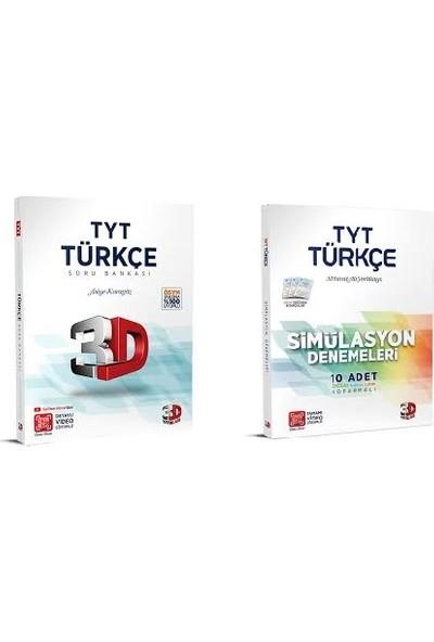 Çözüm 3D Yayınları TYT Türkçe Soru Bankası ve Türkçe Simülasyon Deneme Seti