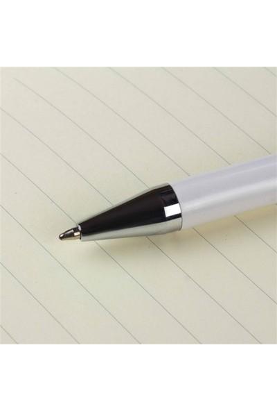 Hediye Rengi İsme Özel Tasarım Kutulu Metal Tükenmez Kalem Beyaz