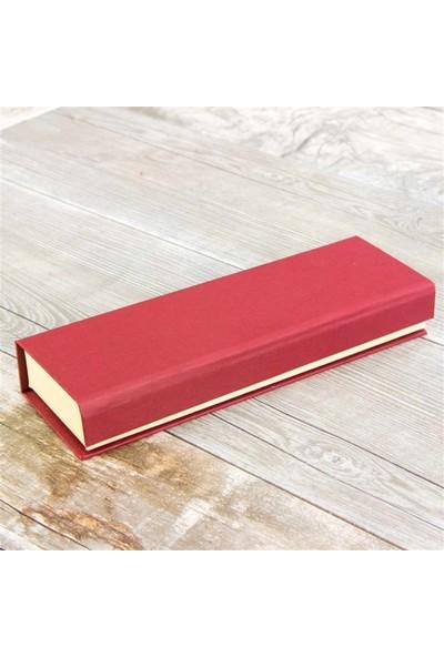 Hediye Rengi İsme Özel Tuğra Kabartmalı Tükenmez Kalem Ve Lüx Kutu Seti
