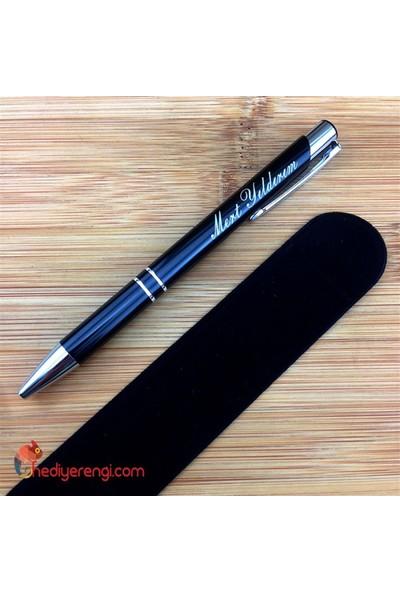 Hediye Rengi İsme Özel Tükenmez Kalem Kılıflı
