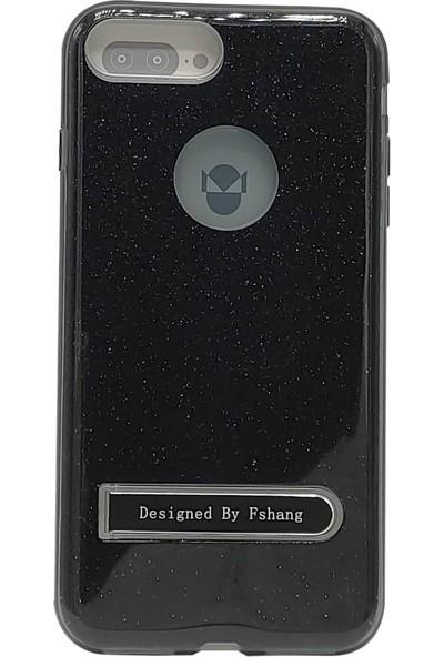 Rock Apple İphone7 Plus Fshang Standlı Series Simli Telefon Kılıfı Siyah