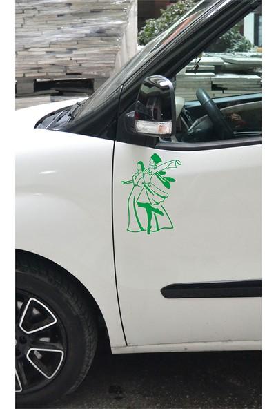 Anahtarlık Sepeti Kafkas Dans Figür Folyo Kesim Etiket Yeşil ( 20 cm )