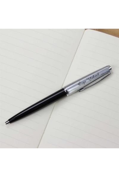 Scrikss İsme Özel Metal Tükenmez Kalem Siyah