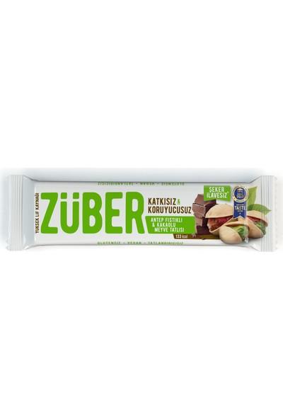 Züber Antep Fıstıklı Ve Çikolatalı Doğal Meyve Tatlısı 40 gr