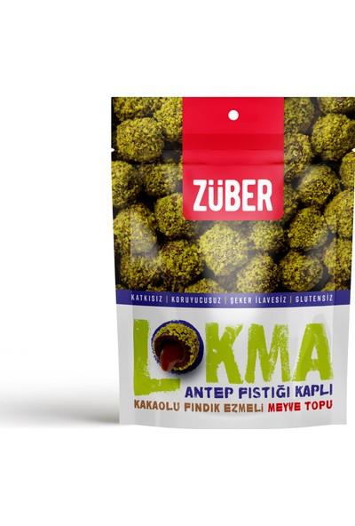 Züber Lokma Antep Fıstığı Kaplı Meyve Topu 96 gr