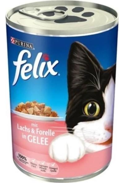 Felix Somon ve Alabalıklı Kedi Konservesi 400 gr 12 Adet