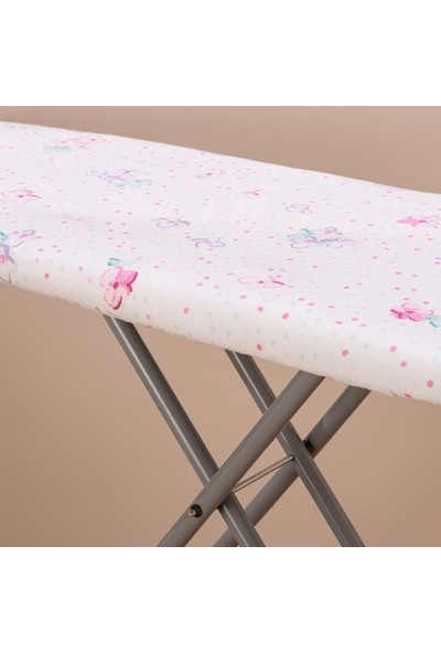 Favore Casa Hüner Çıtır Çiçek Keçeli Ütü Masası Kılıfı 60X140 cm Beyaz