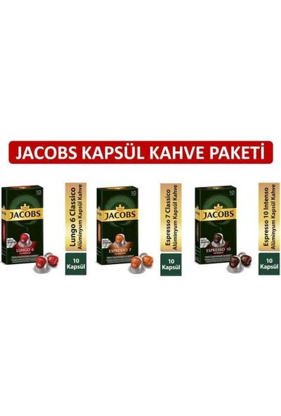 Jacobs Kapsül Kahve Paketi -Nespresso Kahve Maklinesi Uyumlu