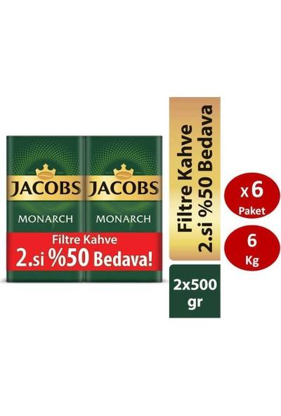 Jacobs Monarch 2 x 500 gr Filtre Kahve x 6 Paket