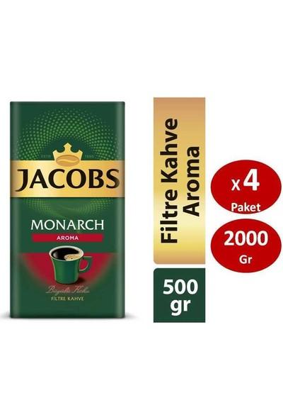 Jacobs Monarch Aromalı Filtre Kahve 500 gr x 4lü SET