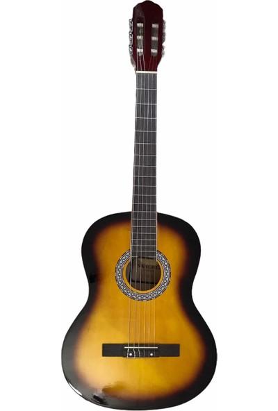 Sanchez 4/4 Sap Ayarlı Klasik Gitar Seti (Gitar-Kılıf-Metot-Pena) - Sunburst