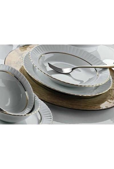 Kütahya Porselen Yemek Takımı Sedef Yaldızlı 76 Parça