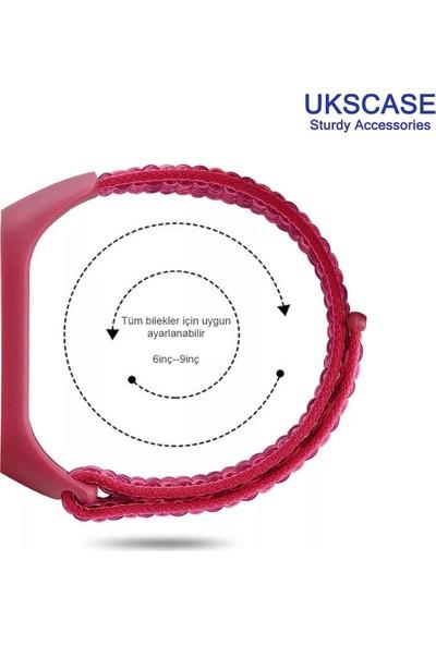 UKS Case Xiaomi Mi Band 5 Soft Örme Hasır Kordon Haki