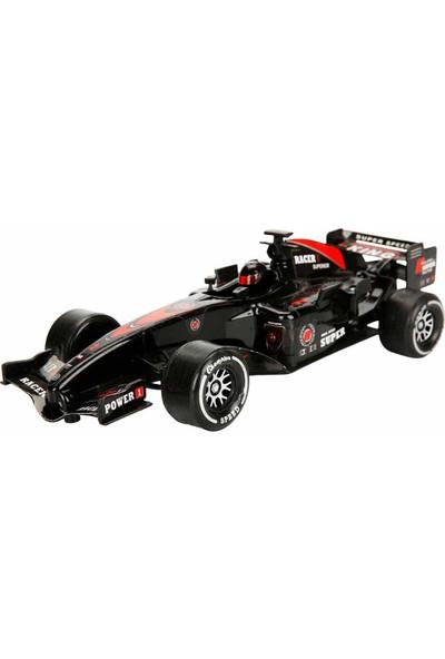 Maxx Wheels Sesli ve Işıklı F1 Racing Sürtmeli Araba 26 Cm. - Siyah