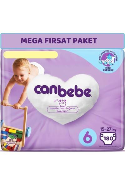 Canbebe Bebek Bezi Beden:6 (15-27kg) Extra Large 180 Adet Mega Fırsat Pk