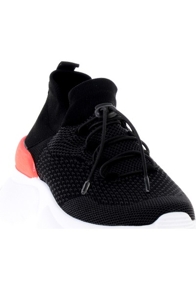 Bambi Siyah - Turuncu Kadın Sneaker