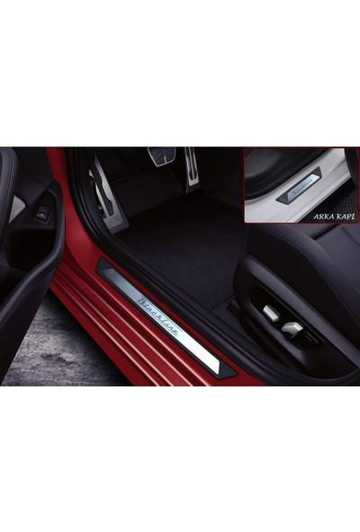 KromGaraj Peugeot 308 Hb Krom Kapı Eşik Koruması Blackline 2007-2013 4 Parça