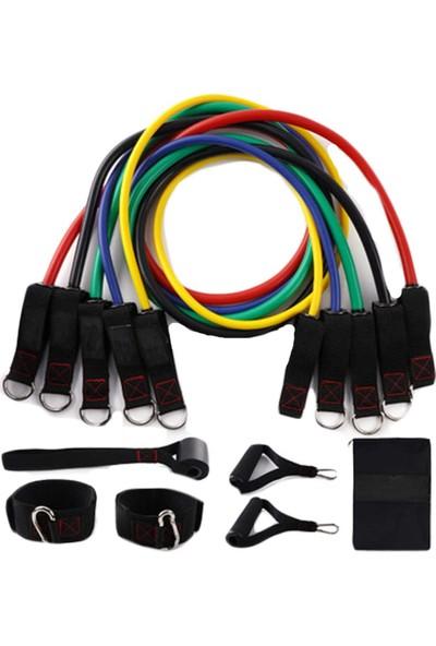 Zen Style 11 Parça Latex Direnç Lastiği Seti Kapı Arkası Direnç Bandı