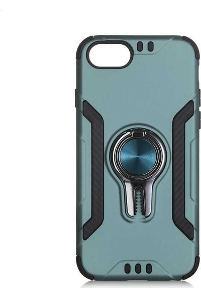 Milat Apple İphone 8 Plus Kılıf Lüks Koko Kapak Mavi