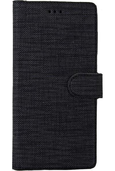 Milat Apple İphone Xr Kılıf Cüzdan Kapaklı Kartlıklı Kumaş Siyah