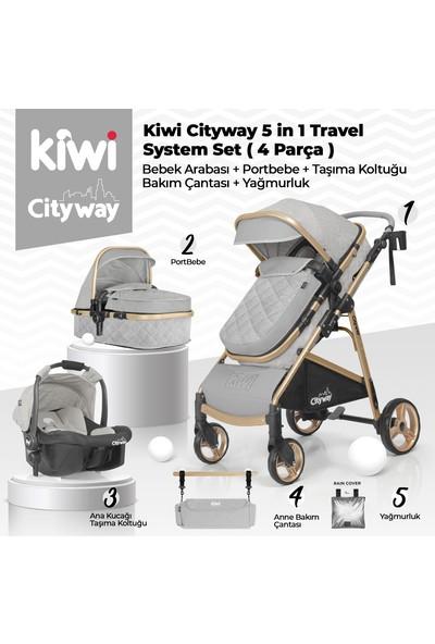 Kiwi 6 In 1 Yenidoğan Set City Way Bebek Arabası ve Sleeper Sallanabilir Beşik