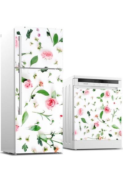 Jasmin2020 Buzdolabı ve Bulaşık Makinası Sticker Kaplama Etiketi Güller
