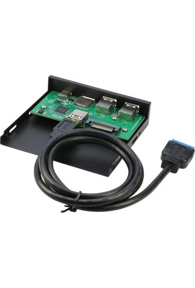 Alfais 4790 3.5 Inç USB 3.0 Tf Sd Microsd Type C Floppy Ön Pamel Disk Yuvası