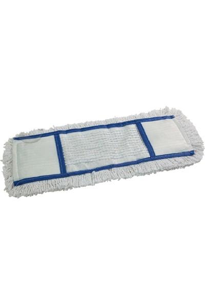 Secco Universal Nemli Mop 40 cm Mavi Şeritli 10'lu Paket