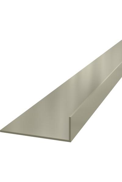 Ersaş Alüminyum '' L '' 60 x 20 mm Köşebent Profili Er 5291 Eloksal Inox Parlak 3 Metre x 2 Adet