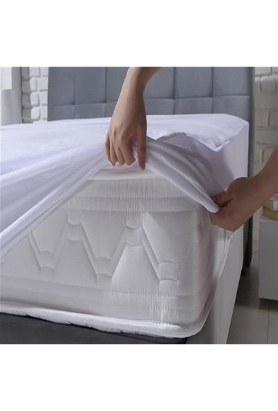 Çapa Home Alez Sıvı Geçirmez Fitted 100*200 Ebatında Beyaz