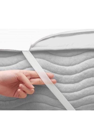 Çapa Home 120*200 Tek Kişilik Sıvı Geçirmez Alez Beyaz