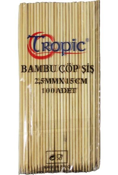 Tropic 15 cm Çöp Şiş 100'lü