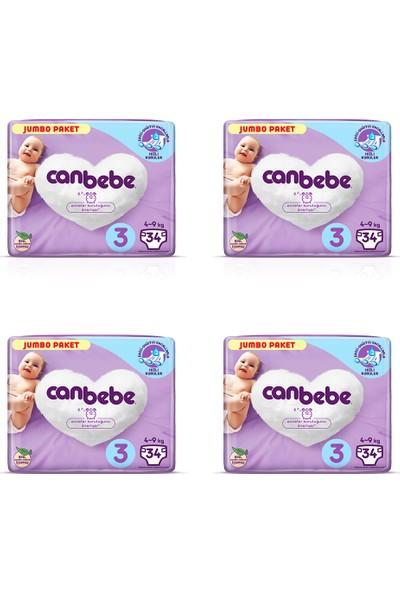 Canbebe 4'lü Canbebe Jumbo Paketi 3 Numara