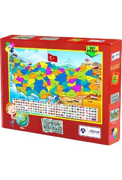 Adam Games Türkiye Haritası 120 Parça Puzzle ( 28X40 )