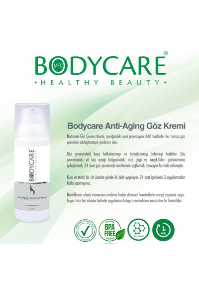 Bodycare Anti-Aging Göz Çevresi Kremi