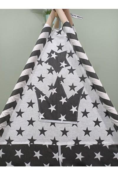 Henna Prime Sabitlenebilir Çocuk Oyun Çadırı Siyah Yıldızlar