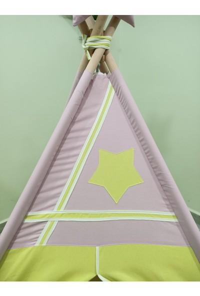 Henna Prime Sabitlenebilir Çocuk Oyun Çadırı Yeşil Lila