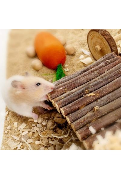 Alyones Ahşap Çubuklu Hamsterlar Için Ahşap Eğlence Köprüsü