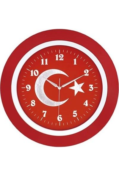 Aypaş Ayp 116 Galaxy Türk Bayrağı Duvar Saati
